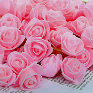 10-500 Foam Mini Artificial Roses Heads Buds Fake Flowers Wedding 2021