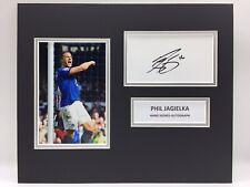 RARE Phil Jagielka Everton Signed Photo Display + COA AUTOGRAPH