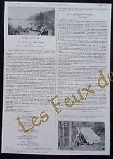 Document photo Canadiens francais Drapeau du Carillon , poeme   1921