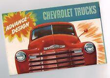 1948 Chevy TRUCK Brochure / POSTER: PICKUP,PANEL,STAKE,SUBURBAN,RACK,3107