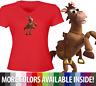 Juniors Girl Women Teen Tee T-Shirt Toy Story Woody's Horse Friend Bullseye Cute
