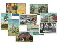 LOT of 9 North Carolina VINTAGE POSTCARDS & BOOK