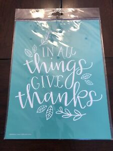 """RETIRED—New In Package """"Give Thanks"""" Chalk Couture Transfer"""
