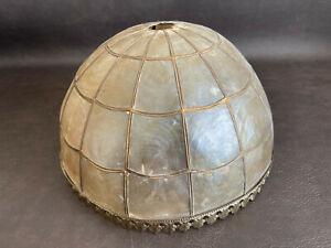 RARE Antique Capiz Shell Dome Lamp Shade Art Deco VERY DELICATE Tiffany Era