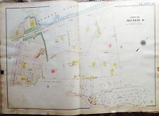 1919 INWOOD HOSPITAL MANHATTAN NY G.W. BROMLEY COPY MAP ATLAS DYCKMAN-W212 ST