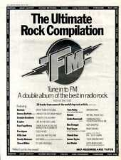 """FM THE ULTIMATE COMPILATION ALBUM ADVERT 15X11"""" BOSTON, QUEEN, THE EAGLES FRAMED"""