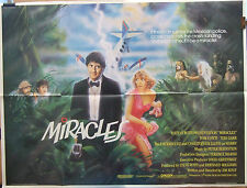 Tom Conti  Christopher Lloyd MIRACLES(1986) Original  UK quad cinema poster