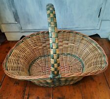 More details for vintage wicker basket with handle vgc #cottagecore easter
