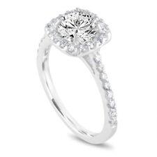 Platinum 1.58 Carat Diamond Engagement Ring Gia Certified Cushion Cut Halo Ring