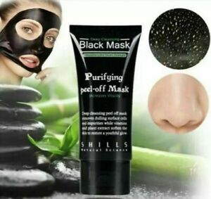 Charcoal Activated Facial Face Black Mask Blackhead Remover Acne 50ML Shills