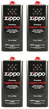 Zippo Premium Lighter Fluid 12 fl oz. (355ml) For All Zippo Lighters (Pack Of 4)