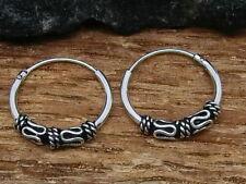 Celtic Hoop Earrings Adornment Ø 14mm 925 Silver Earrings Bali Hoop