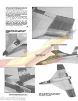 """FREE FLIGHT 20""""  FIGHTER PLANE FOR TELCO CO 2 MOTOR MODEL AIRPLANE PLANS & NOTES"""