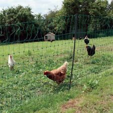 50M ELECTRIC POULTRY NETTING - Fencing Fence Chicken Green Mesh Net Posts