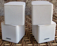 Set of 2 Bose Jewel Double Cube Speakers White
