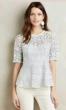 NWT Anthropologie Signa Lace Top, Sz 8 by HD in Paris 8P 8 Petite