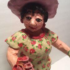 "Jane F Hankins Garden Girl ""Rosita DelGado Fernandino"" Myrtis Resin Sculpture"