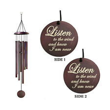 8 Metal Tubes Wind Chimes for Outdoor Deep Tone 30 Inch Large Bronze Wind Chime