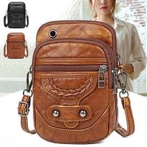 Women PU Leather Crossbody Bag Messenger Shoulder Mobile Phone Travel Handbag