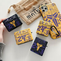 Case Kobe Bryant Airpods Shockproof Earphone Cover For AirPods 1 2 3 Pro