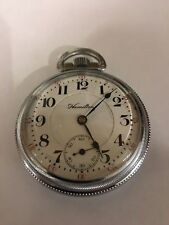 Hamilton 936 Railroad Pocket Watch. 18s 17 Jewel. Working condition. Circa 1910