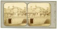 STEREO France, Paris, Musée et Hôtel de Cluny, circa 1870 Vintage stereo card -