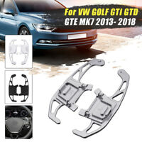 2x Steering Wheel Shift Shifter Paddles For VW GOLF GTI R GTD GTE MK7 13-18
