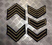 Genuine British Military No1 Issue Rank Stripe Chevron Patches Various Ranks