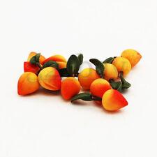 12 pcs. Dollhouse Food Miniature Peach Imitations Polymer Clay made Mini Fruits