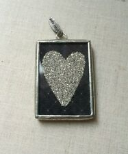 Jewel Kade Charm- Black Friday, Couture- Silver Heart