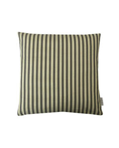 """16""""  Ticking stripe Charcoal Grey scatter cushion covers pillow sham made in UK"""