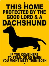 5005 DACHSHUND DOG SIGN VINYL OUTDOOR INDOOR 9 X 12