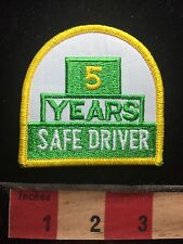 5 YEARS SAFE DRIVER Patch - Truck Driving Safety Yellow & Green & White C75L