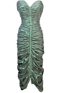 Loris Azzaro Night Out Emerald Green Gown Dress  Size S