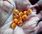 Heavy sink Fishing Premium Trout/Salmon/Steelhead Beads 8mm 10ct glow roe orange