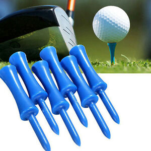 20Pcs Durable Plastic Step Down Castle Golf Tees Height Control Holder Blue 68mm