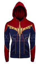 Women's Captain Marvel Carol Danvers Avengers Endgame Brie Larson Fleece Jacket