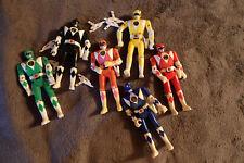 Set of six Power Rangers action figures.