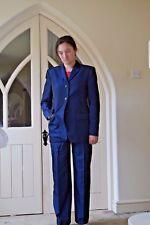Belle ETRO Pantalon costume taille 44 NEUF sans étiquette Bleu UK 12 Beau Léger Smart