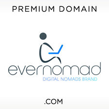 EverNomad .COM Domain Name Sale PREMIUM BRANDABLE Rare GoDaddy Digital Nomad