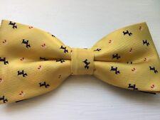 Yellow Scotty Dog Bow Tie/ Mens Scotty Dog Bow Tie