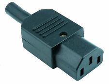 2 x IEC Straight Cable Socket Connector Rewireable C13
