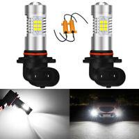 2x HB4 9006 CANBUS No Error LED Front Fog Daytime Driving Light Bulbs DRL White
