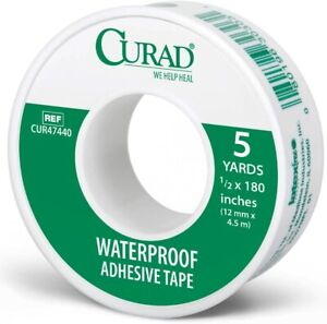 Curad Tape: Waterproof Adhesive Tape - 5 yards, 1/2 x 180 inches