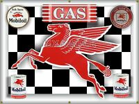 MOBIL OIL PEGASUS FLYING HORSE GAS STATION BANNER MURAL GARAGE SIGN ART 4' X 3'