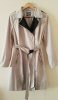 Women Debenhams The Collection Beige Belted Mac Trench Jacket Coat UK 14