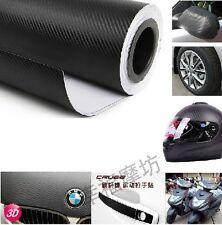 3D Carbon Fiber Black Vinyl Film Sheet Sticker for Car iPhone ipad 90cm*127cm