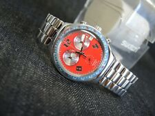 NEW Swatch Irony Watch Chrono ROSSO FURORE YCS494G Swiss Rare Date Chronograph