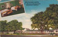 Postcard Southland Motel Glennville Georgia GA