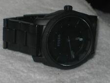 Fossil FS-4704 Machine Black Ion Plated Stainless Steel Bracelet Men's Watch